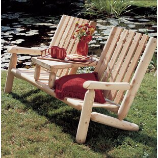 Eveloe Wooden Tete-a-Tete Bench by Millwood Pines