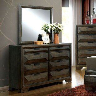 Barbosa 8 Drawer Double Dresser with Mirror