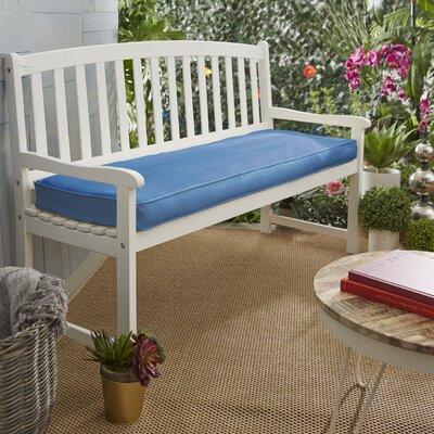 Brayden Studio Indooroutdoor Bench Cushion Color Light Blue