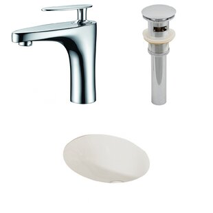 Compare Ceramic Oval Undermount Bathroom Sink with Faucet and Overflow ByAmerican Imaginations