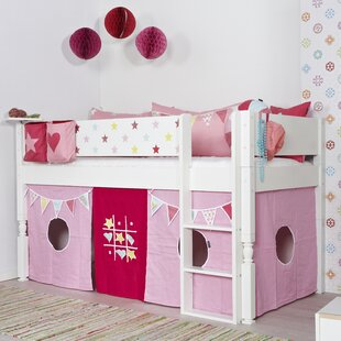 Kaiden Single Mid Sleeper Bed With Curtain By Harriet Bee