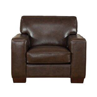 Van Nest Leather Club Chair by Latitude Run