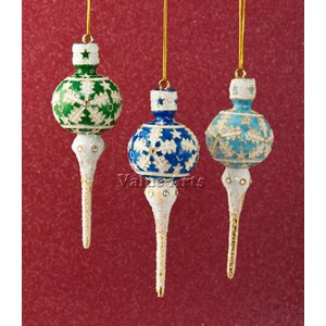 Cloisonne Icicle Hanging Oranament (Set of 3)