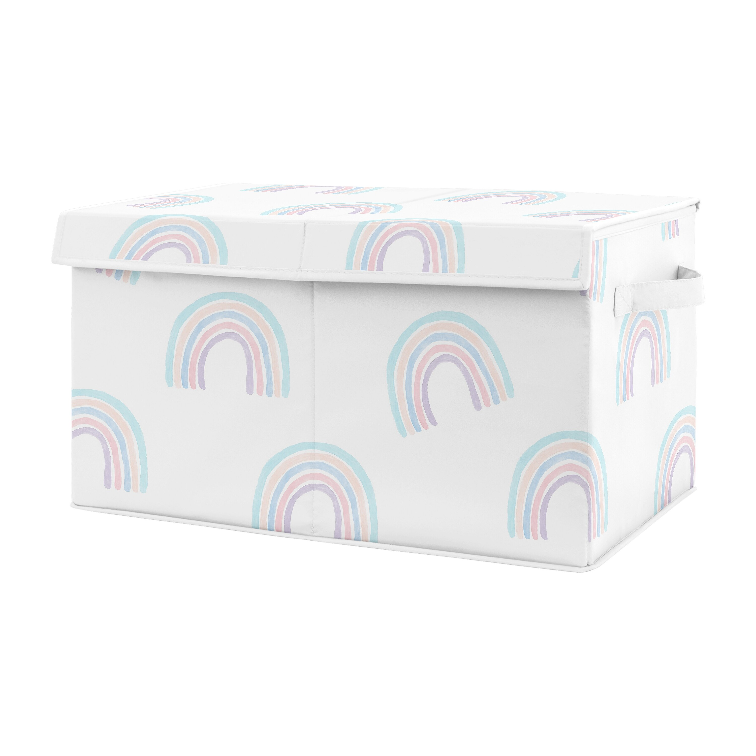 Sweet Jojo Designs Rainbow Fabric Toy Box Wayfair