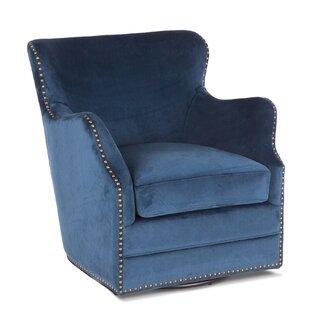 Quirion Komodo Swivel Barrel Chair by Everly Quinn