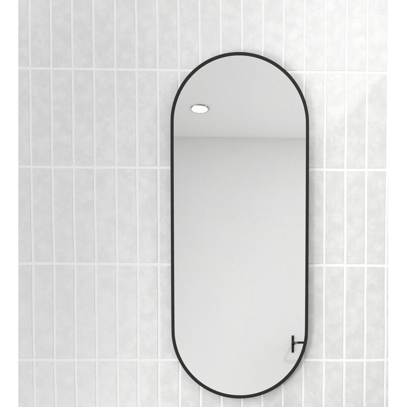 Glass Warehouse Pill Shape Modern Contemporary Vanity Mirror Reviews Wayfair Ca
