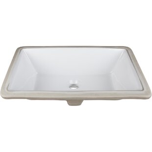 Compare Ceramic Rectangular Undermount Bathroom Sink ByHardware Resources