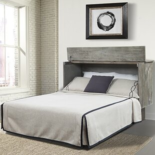Pyper Marketing LLC Estella Queen Storage Murphy Bed with Mattress