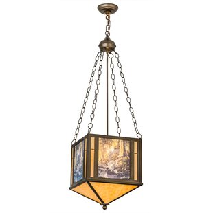 Maxfield Parrish The Glen 2-Light Geometric Chandelier by Meyda Tiffany