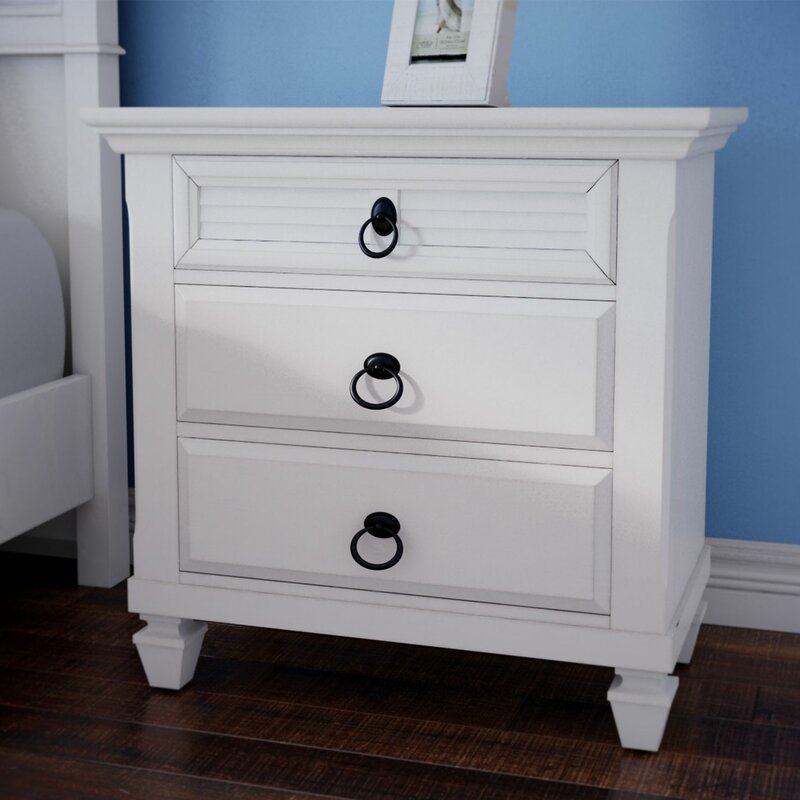 highland dunes centreville 3 drawer nightstand & reviews | wayfair Nightstand Images