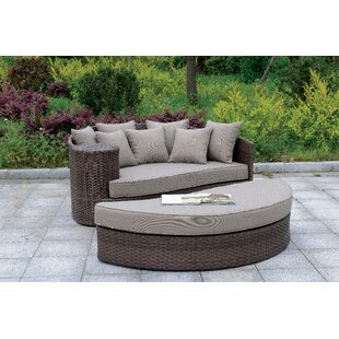 Bloomsbury Market Whyte Contemporary Patio Daybed with Cushions