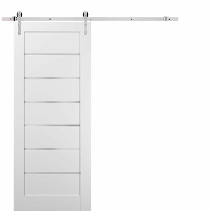 Sartodoors Quadro Glass Barn Door With Installation Hardware Kit Wayfair