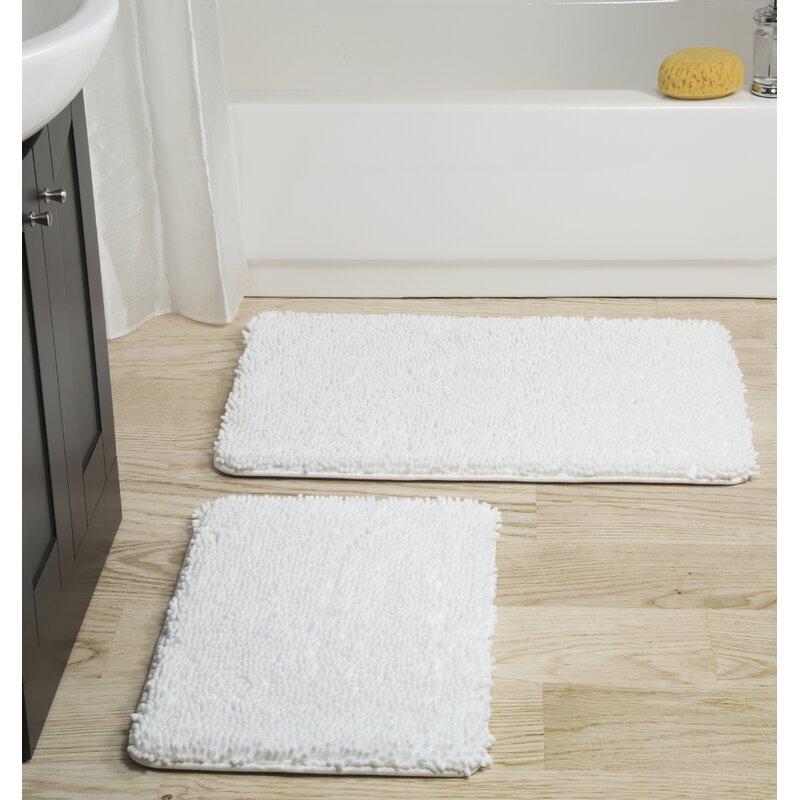 Plyh Memory Foam Shag 2 Piece Bath Rug