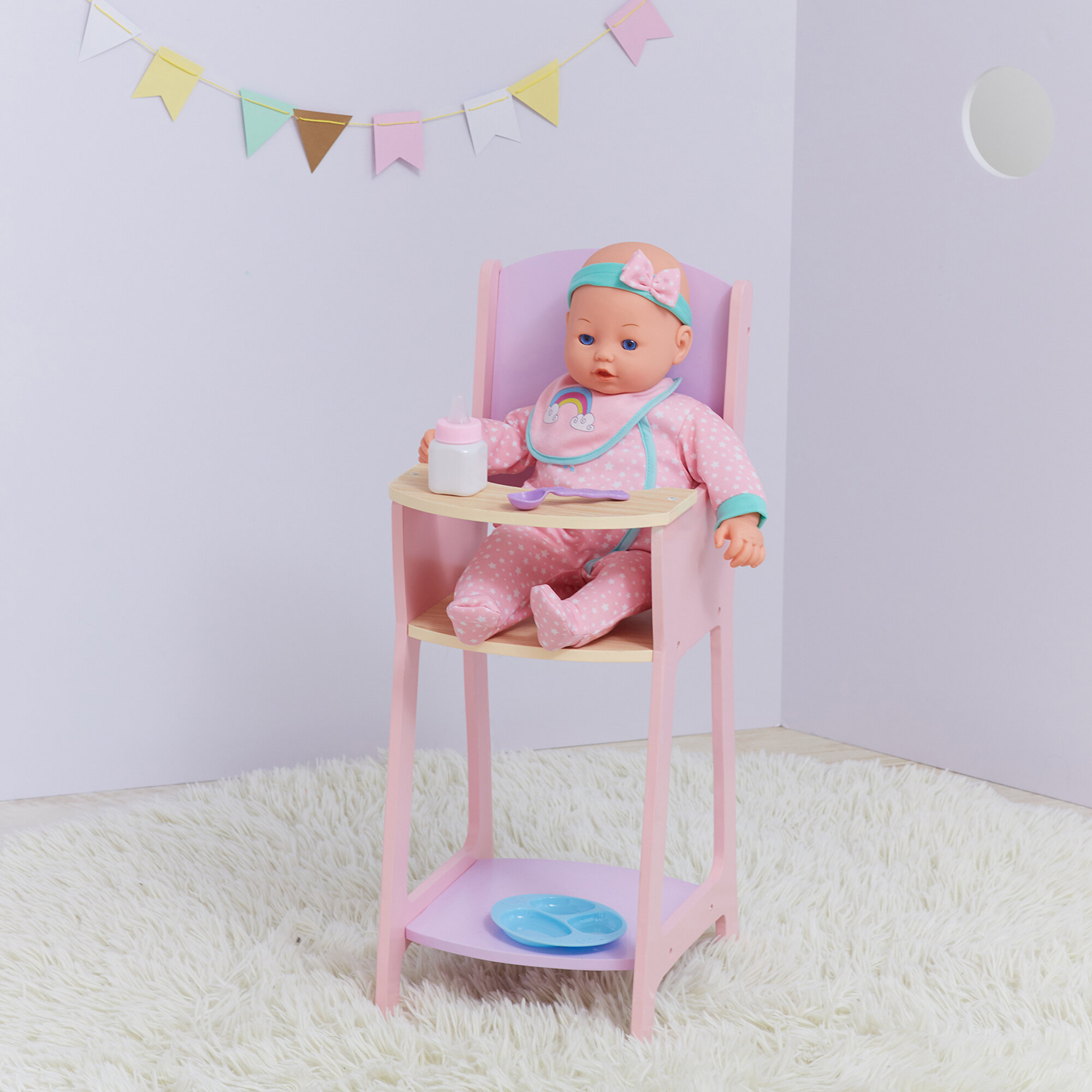 Olivia S Little World Nordic Princess Baby Doll High Chair
