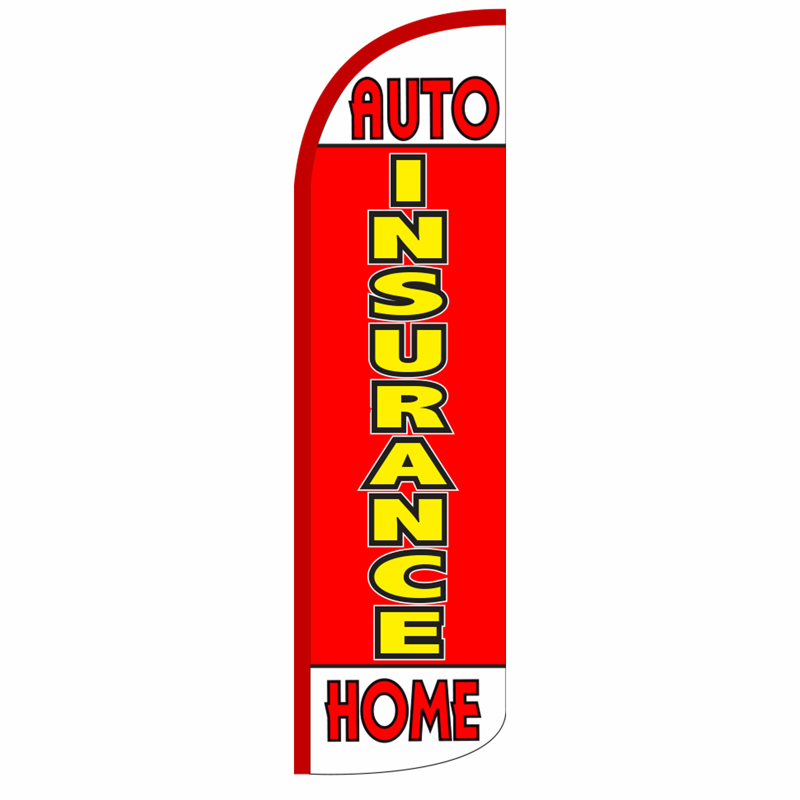 Neoplex Insurance Auto And Home Polyester 138 X 38 In Feather Banner Wayfair