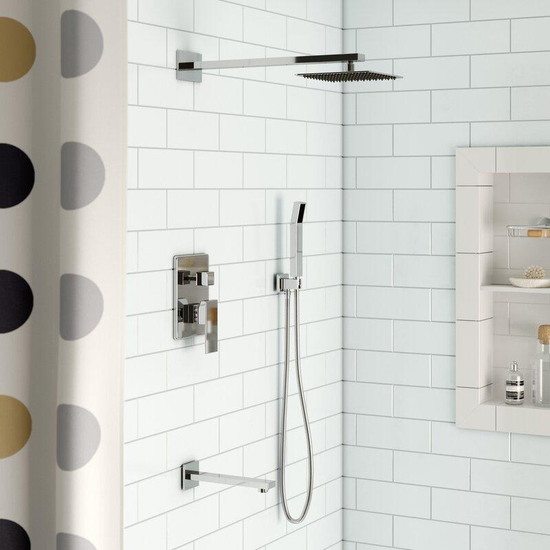 Rebrilliant Cahoon Diverter Complete Shower System With Square Rain