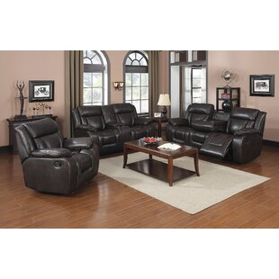 Aisling Reclining 3 Piece Living Room Set by Red Barrel Studio