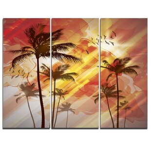 3 Piece Sunrise Sunset Kitchen Dining Wall Art You Ll Love In 2021 Wayfair