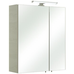 Amora 60 X 70cm Mirrored Wall Mounted Cabinet By Quickset