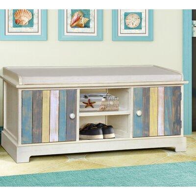 Super Gallerie Decor Seaside Wood Storage Bench Creativecarmelina Interior Chair Design Creativecarmelinacom