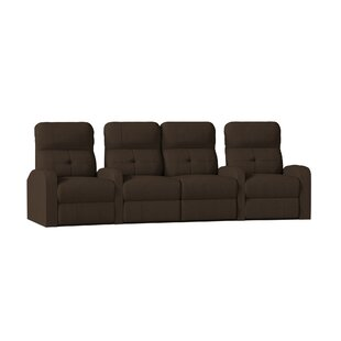 Contemporary Tufted Home Theater Curved Row Seating (Row of 4)