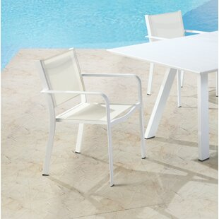 Reichenbach Stacking Patio Dining Chair (Set of 4)