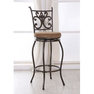 Burbank Swivel Bar Stool Red Barrel Studio