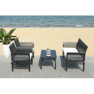 Behr Outdoor 4 Piece Sofa Seating Group with Cushions by Bay Isle Home
