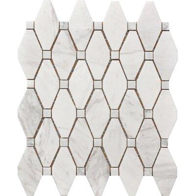 Marbella Marble Marquise Mosaic Splash Tile