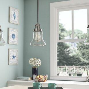 Beachcrest Home Nardone 1-Light Bell Pendant