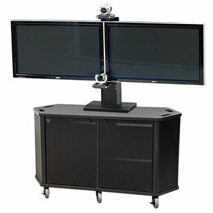 Mobile AV Cart with Dual Monitor Mount by VFI