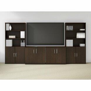 Bush Business Furniture Easy Office 6 Piece L-Shape Desk Office Suite