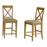 Priddy Solid Wood 25.25 Counter Stool (Set of 2) by Andover Mills™