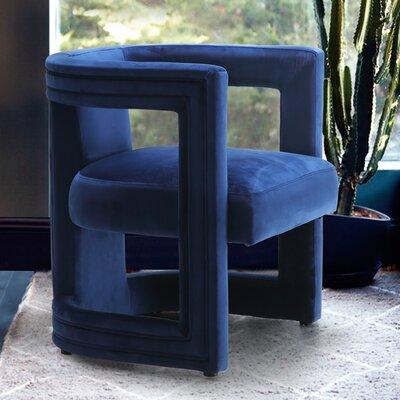 Loren Club Chair Mercer41 Upholstery: Navy