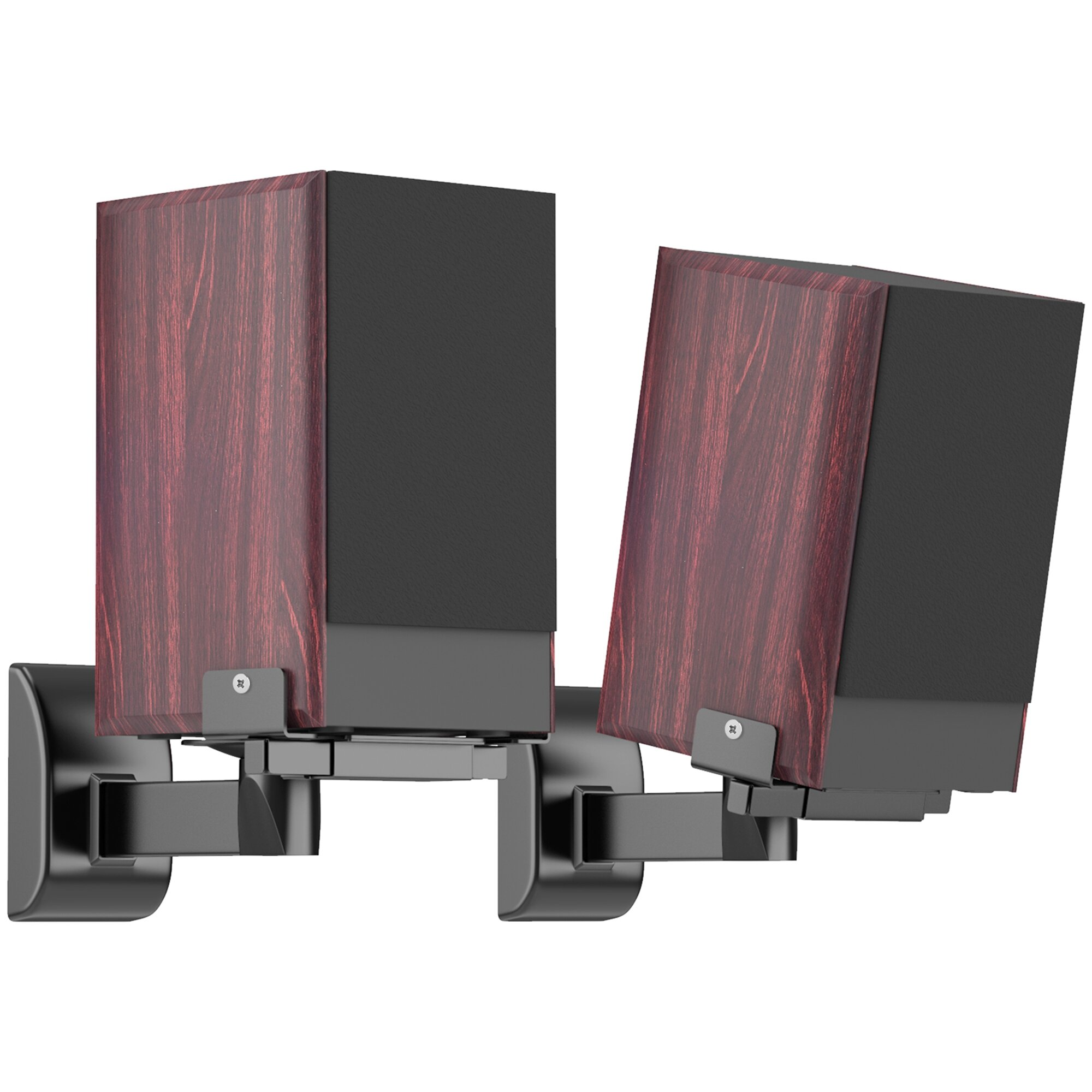 Side Clamping Bookshelf 10cm x 10cm Fixed Height Speaker Stand
