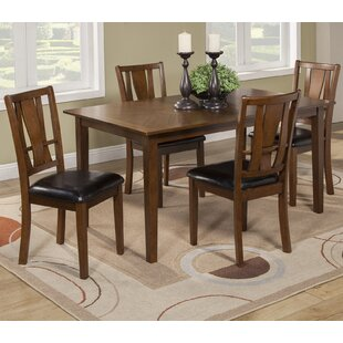 Geissler 5 Piece Dining Set Red Barrel Studio