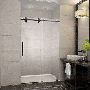 Langham 48 x 75 Sliding Completely Frameless Shower Door ByAston