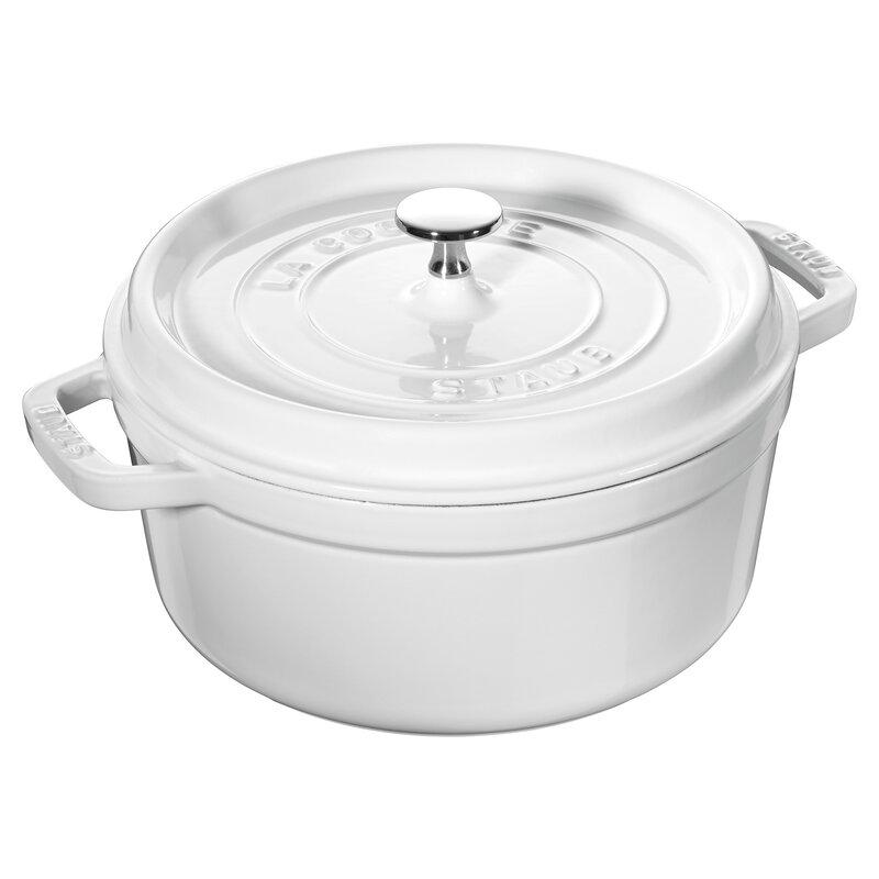 Staub Staub 4 qt. Cast Iron Round Dutch Oven | Perigold