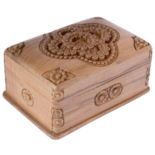M Ayub Artisan Treasured Roses Jewelry Box By Novica