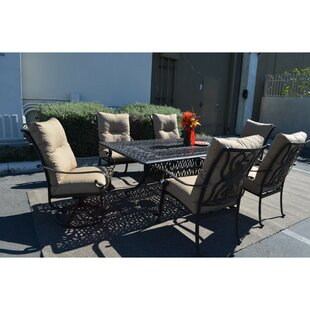 K&B Patio Florence 7 Piece Patio Set