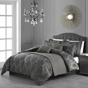 House of Hampton Brower Jacquard 8 Piece Comforter Set