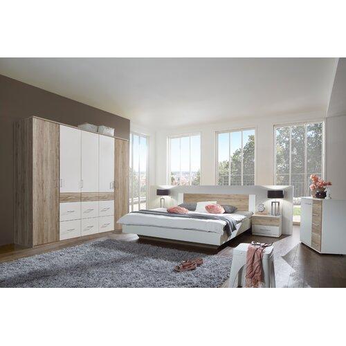 3-tlg. Schlafzimmer-Set | Schlafzimmer > Komplett-Schlafzimmer | Alpinweiß / san remo-eiche | Wimex