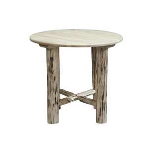 Abordale Round Solid Wood Dining Table Loon Peak