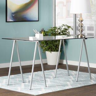 Anatolia Glass Writing Desk by Latitude Run