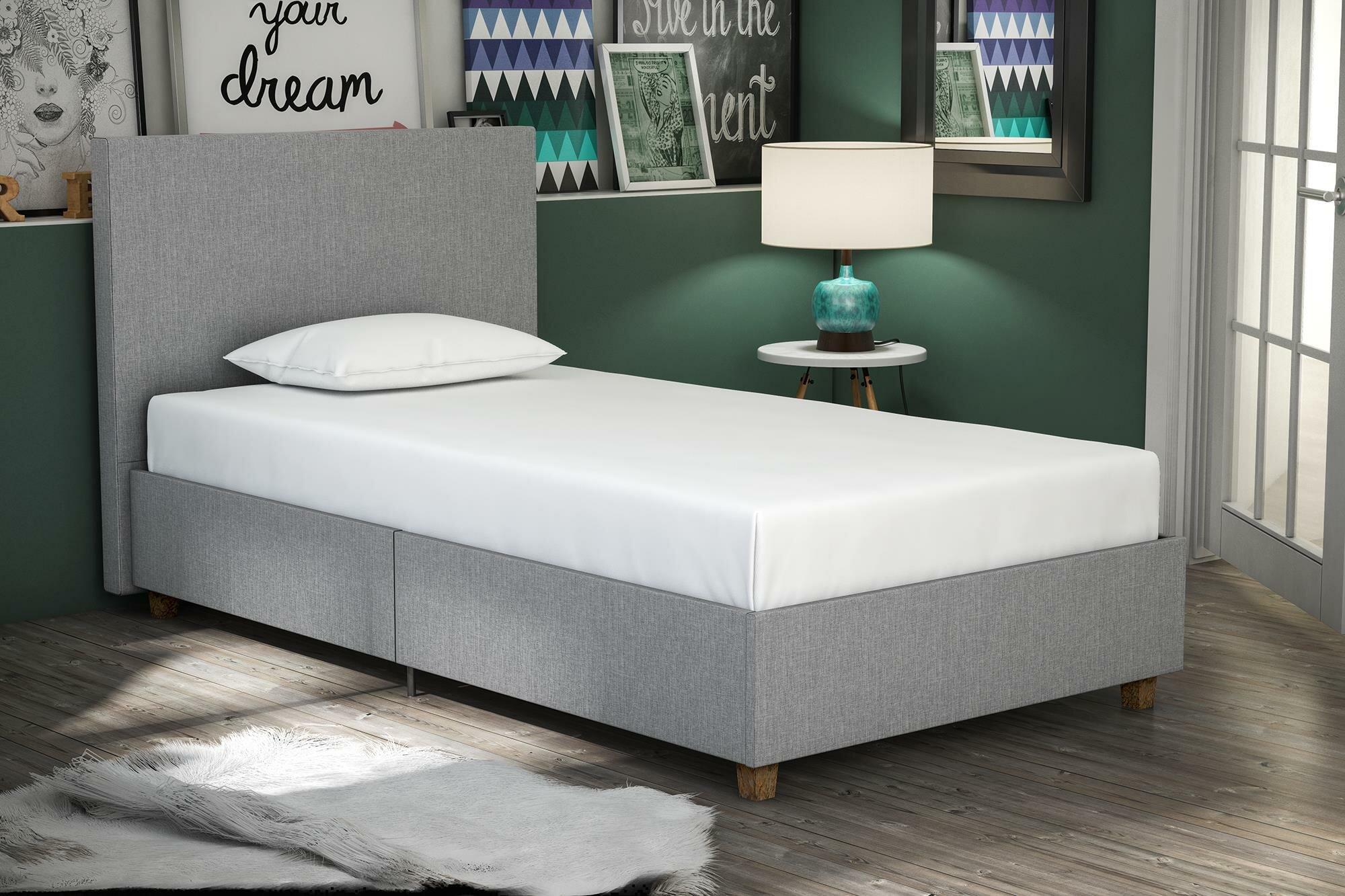 Wrought Studio Evanston Upholstered Platform Bed Reviews Wayfair