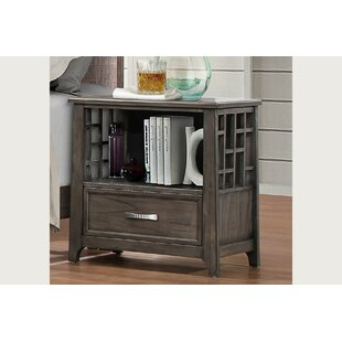 Compare prices Pirkle 1 Drawer Nightstand by Gracie Oaks