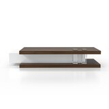Bouleaux Floor Shelf Coffee Table with Storage by Orren Ellis