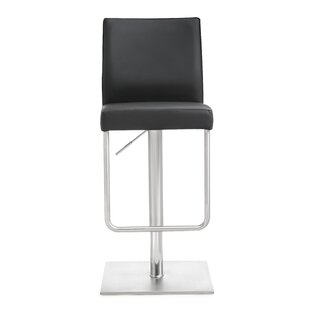 Orren Ellis Carly Adjustable Height Swivel Bar Stool