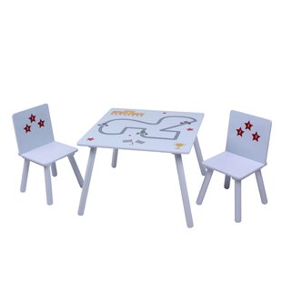 Clack Children's 3 Piece Table And Chair Set By Zoomie Kids