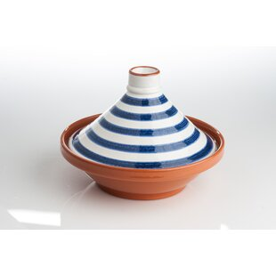 1.75 Qt. Striped Ceramic Round Tagine